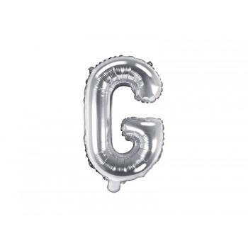 """Balon foliowy srebrny 35cm litera """"G"""""""