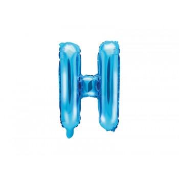 """Balon foliowy niebieski 35cm litera """"H"""""""
