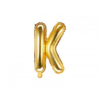 """Balon foliowy złoty 35cm litera """"K"""""""