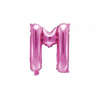 """Balon foliowy ciemny różowy 35cm litera """"M"""""""