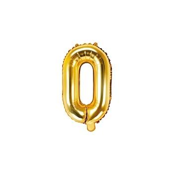 """Balon foliowy złoty 35cm litera """"O"""""""