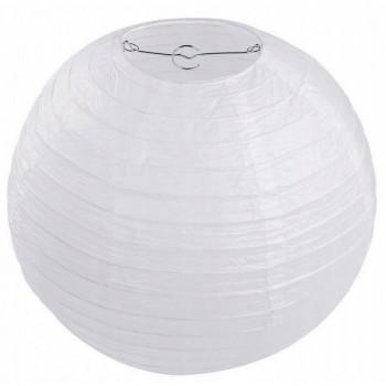 Lampion papierowy 25cm biały