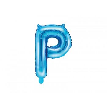 """Balon foliowy niebieski 35cm litera """"P"""""""