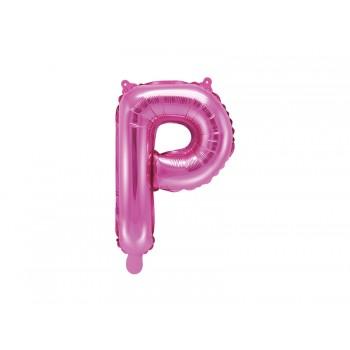 """Balon foliowy ciemny różowy 35cm litera """"P"""""""