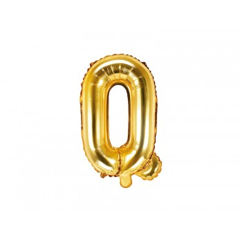 """Balon foliowy złoty 35cm litera """"Q"""""""