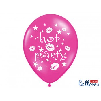 Balony 30cm Hot party - 6szt