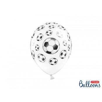 Balony 30cm Piłki nożne - 6szt