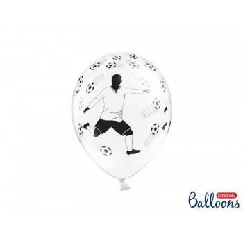Balony 30cm 'Piłkarz i piłki' - 6cm