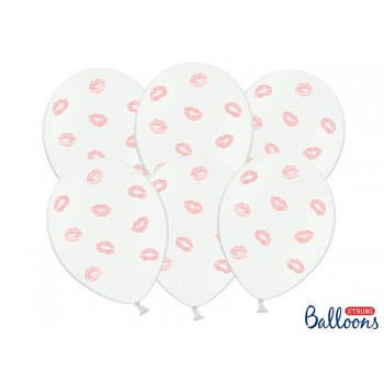 Balony 30cm Usta - 6szt