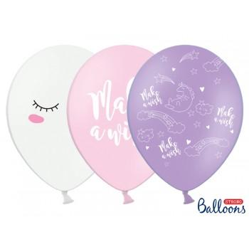 Balony 30cm Jednorożec - 6szt