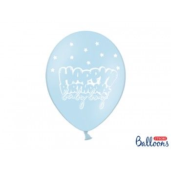 Balony 30cm Happy Birthday - 6szt