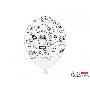 Balony 30cm Potworki - 6szt