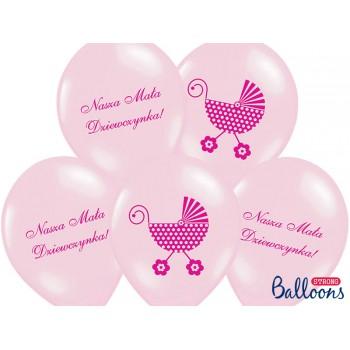 Balony 30cm Nasza Mała Dziewczynka - 6szt