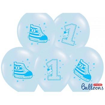 Balony 30cm Trampek - Number 1 - 6szt