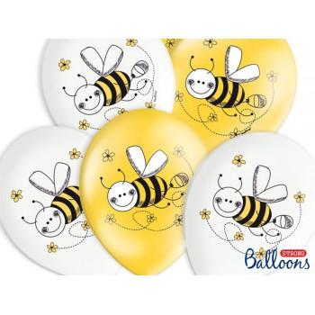Balony 30cm Pszczółki - 6szt