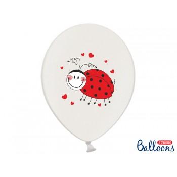 Balony 30cm Biedronki - 6szt