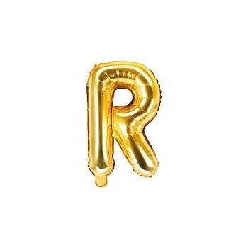 """Balon foliowy złoty 35cm litera """"R"""""""