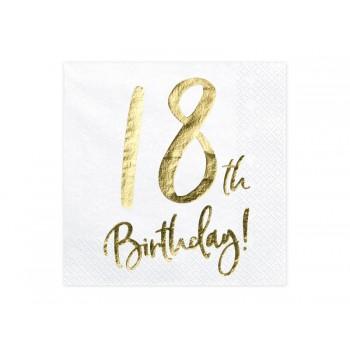 Serwetki 18th Birthday 33x33cm