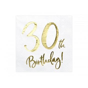 Serwetki 30th Birthday 33x33cm