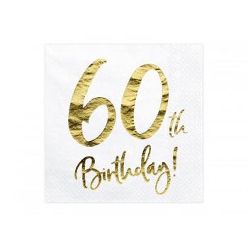 Serwetki 60th Birthday 33x33cm