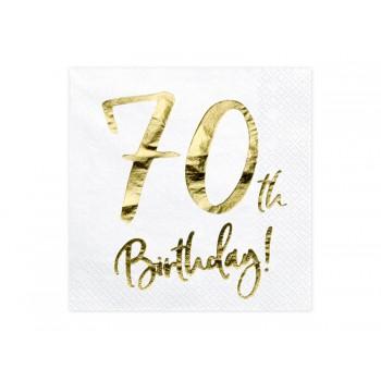 Serwetki 70th Birthday 33x33cm