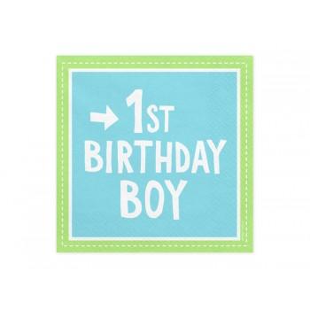 Serwetki 1st Birthday Boy 33x33 cm