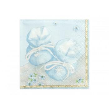 Serwetki Buciki niebieski 33 x 33cm