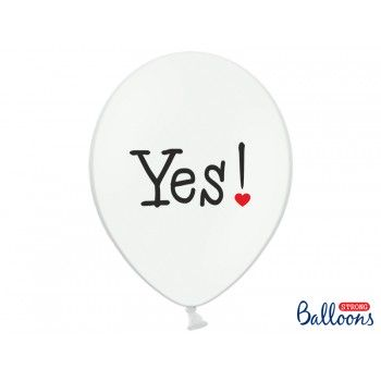 Balony 30cm 'Will you marry me' - 6szt