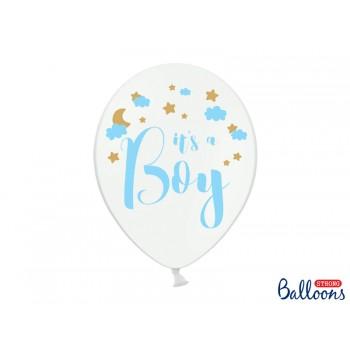 Balony 30cm 'It's a Boy' Baby Shower - 6szt