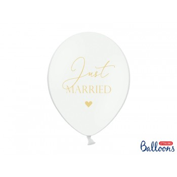 Balony 30cm Just Married - 6szt