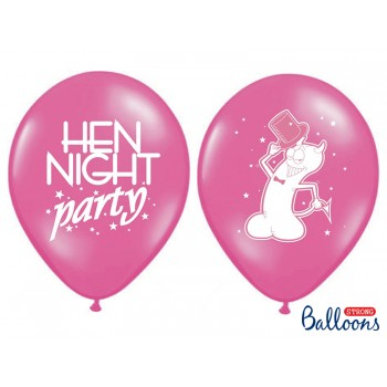 Balony 30cm 'Hen night party' - 6szt