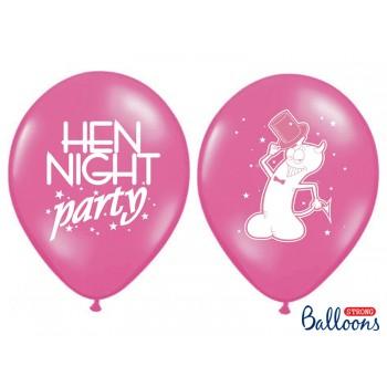 Balony 30cm 'Hen night party' - 6szt