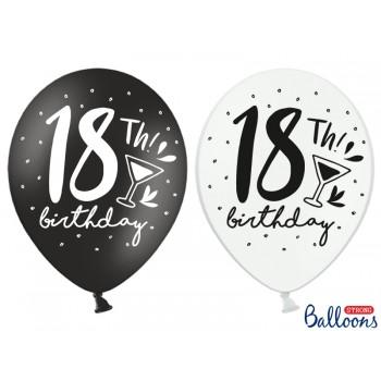 Balony 30cm 18th! birthday - 6szt