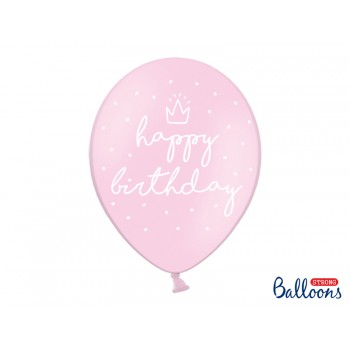 Balony 30cm happy birthday - 6szt