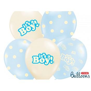 Balony 30cm It's a Boy - 6szt