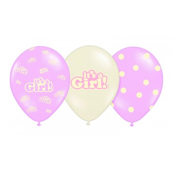 Balony 30cm It's a Girl - 6szt