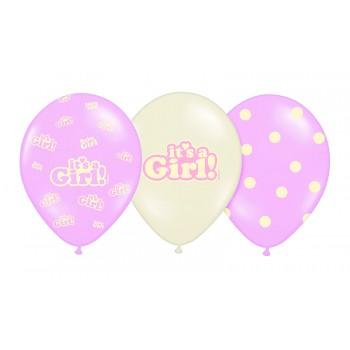 Balony 30cm It's a Girl - 6szt