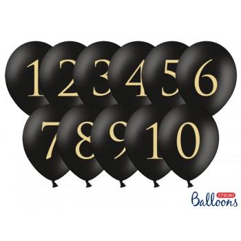 Balony 30cm Cyfry - 11szt