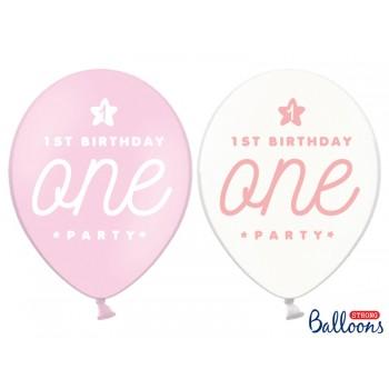 Balony 30cm 'One' pastelowe - 6szt