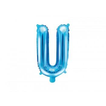 """Balon foliowy niebieski 35cm litera """"U"""""""