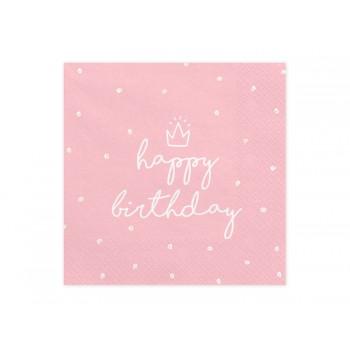Serwetki Happy Birthday 33x33 cm