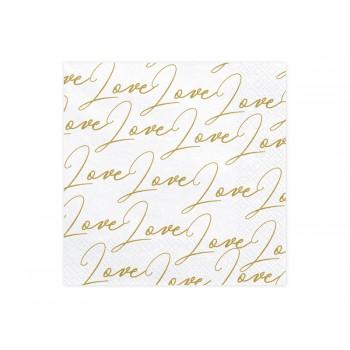 Serwetki Love biały 33x33cm
