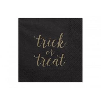 Serwetki Trick or treat czarny 33x33cm