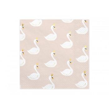 Serwetki Lovely Swan 33x33cm