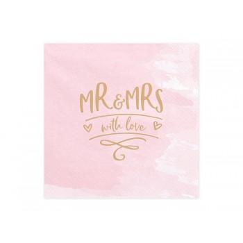 Serwetki Mr & Mrs 33x33cm