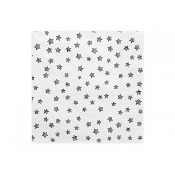 Serwetki Black&White Gwiazdki 33 x 33 cm
