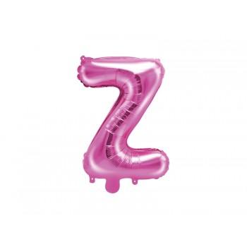"""Balon foliowy ciemny różowy 35cm litera """"Z"""""""
