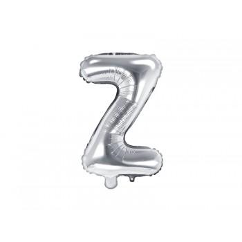 """Balon foliowy srebrny 35cm litera """"Z"""""""