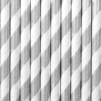 Słomki Papierowe w paski 10szt
