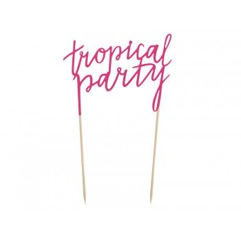 Topper na tort Aloha - 'Tropical party' 24cm